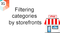 Filtering categories by storefronts