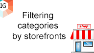 Filtering categories by storefronts  - Filtering categories by storefronts